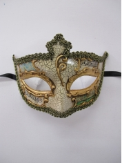 SALVATORE Cream Eye Mask - Masquerade Masks
