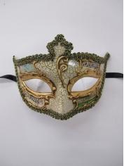 SALVATORE Cream Eye Mask - Masquerade Masks
