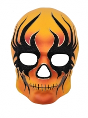 Day of the Dead Black Flame Face Mask
