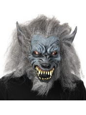 Grey Werewolf Full Head Mask