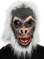 Grey Gorilla Full Head Mask