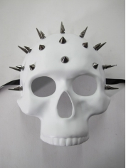 White Studded Skull Mask