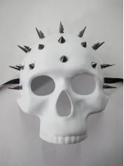 White Studded Skull Mask