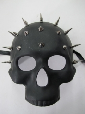 Black Studded Skull Mask