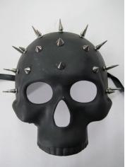 Black Studded Skull Mask