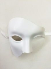 White Half Face - Masquerade Masks