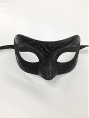 Black with Glitter - Masquerade Masks