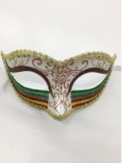 Rainbow Glitter Mask 2 - Masquerade Masks