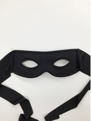 Black Zorro Eye Mask With Ties - Masquerade Masks