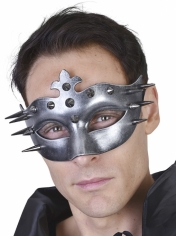 Spiky Silver Eye Mask - Masquerade Masks