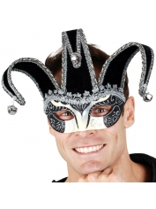 Jester Silver Black - Eye Mask