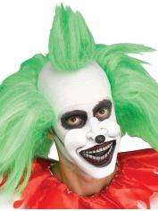 Creepy Clown 1/2 Mask with Black Lips - Halloween Masks