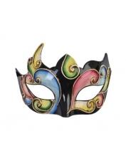 Alzena Black Multi-Colour - Masquerade Masks