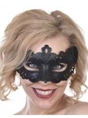 Lovelace Black Glitter - Masquerade Masks