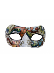 Florence Terracotta Eye Mask - Masquerade Masks