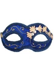 Blue Velvet Eye Mask - Masquerade Masks