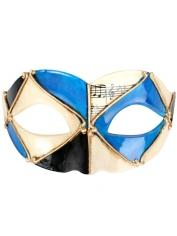 PIETRO Blue and Black - Masquerade Masks