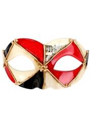 Red Black Eye Mask - Masquerade Masks