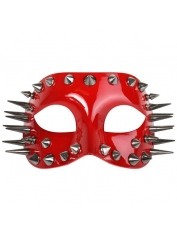 Marco Glossy Red with Spikes - Masquerade Masks