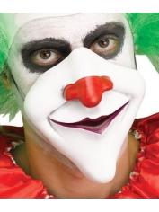 Creepy Clown 1/2 Mask with Purple Lips - Halloween Masks