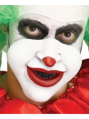 Creepy Clown 1/2 Mask with Red Lips - Halloween Masks