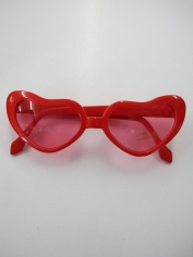 Red Heart Shaped Glasses - Novelty Glasses