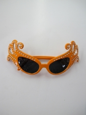 Dame Edna Glasses Orange - Novelty Glasses