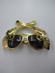 Gold Gun glasses - Novelty Glasses