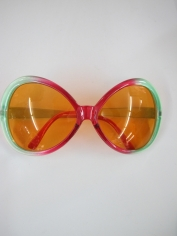 Big Pimp Red and Green Novelty Glasses