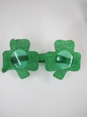 Green Shamrock Novelty Glasses