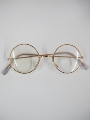 Gold Round Frame Novelty Glasses