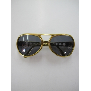 Rock N Roll Gold Glasses - Novelty Glasses