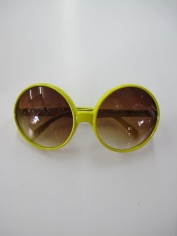 Hippie Yellow Novelty Glasses