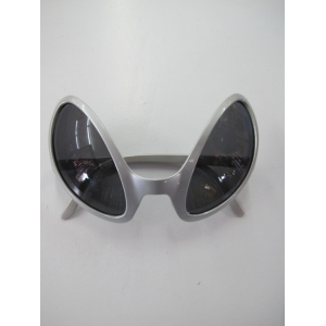 Silver Alien Novelty Glasses