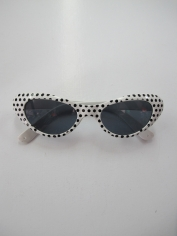 50's White / Black Spots Novelty Glasses