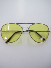 Aviator Novelty Glasses - Yellow