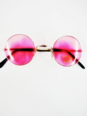 John Len Glasses Pink - Novelty Glasses