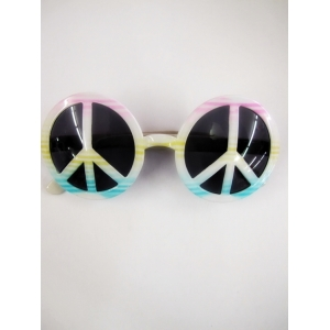 Tie Dye Peace Sign Glasses - Novelty Glasses