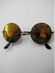 John Len Sunglasses Gold Mirror - Novelty Sunglasses