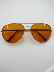 Aviator Novelty Sunglasses - Brown