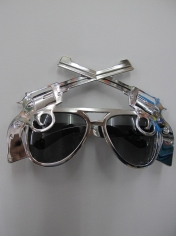 Silver Gun glasses - Novelty Glasses