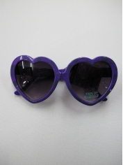 Purple with Black Dots Heart Shaped Sunglasses