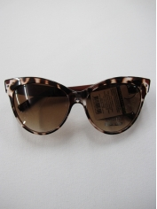 Brown with Black Dots Cat Eye Sunglasses