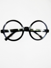 Black Round Costume Glasses