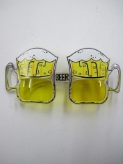 Yellow Beer Novelty Glasses