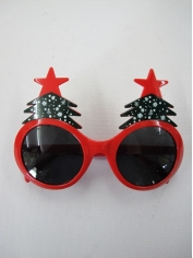 Red Christmas Tree Sunglasses - Novelty Glasses