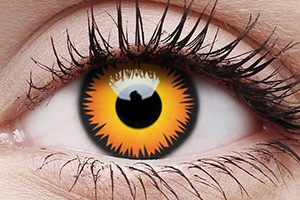 Orange Werewolf - Three Months Colored Crazy Contact Lenses