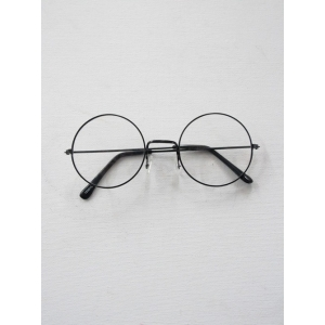 Metal Black Round - Novelty Sunglasses