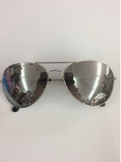 Aviator Novelty Sunglasses - Silver Mirror