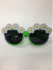 Daisy with Green Frame - Novelty Glasses